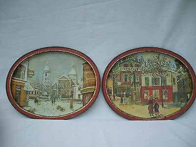 vintage Sunshine Biscuits tin & 2 Trays-11x14, Maurice Utrillo french painter