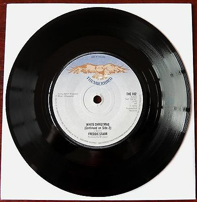 "Freddie Starr White Christmas Comedy 7"" Single Thunderbird (1975) Ex-"