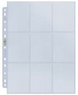 30 x ULTRA PRO PLATINUM CARD ALBUM BINDER PAGES SLEEVES WITH 9 POCKETS 11 HOLES