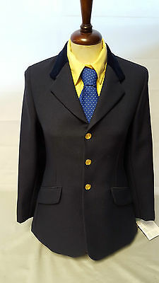 Saddle Craft Girls Navy Show Jacket with Brass Buttons
