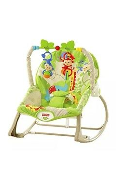 Fisher Price Rainforest Friends Infant To Toddler Baby Rocker