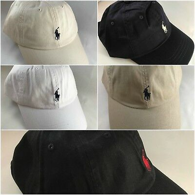 BNWT Adults O/S Ralph Lauren Cap Hat Polo Black Blue Khaki Beige White RRP £35