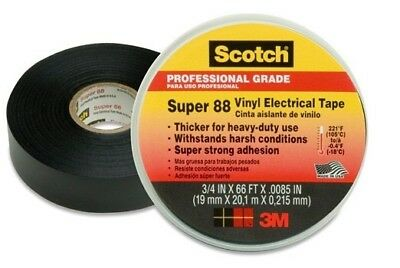 "3M Super 88 Electrical Tape 3/4"" x 66 ft. (Package of 10 rolls - 660 total feet)"