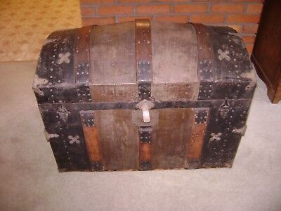 Antique 1880's-Premium Trunk Factory-Pittsburgh,Pa. Dome Top Trunk