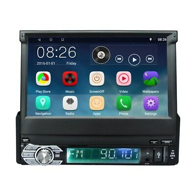 """Ezonetronics RM-CT0008 7"""" 1 Din Retractable Screen Android 6.0 Car Player New"""