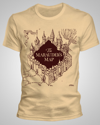 T-Shirt Harry Potter The Marauders Map Adult & Kids Sizes