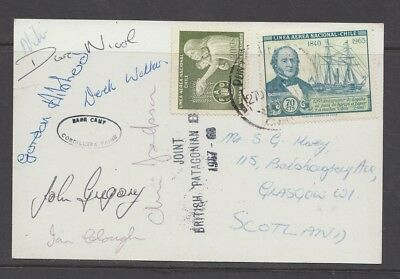 Mountaineering SIGNED - Climbing Expedition Postcard - British Patagonia 1967-68