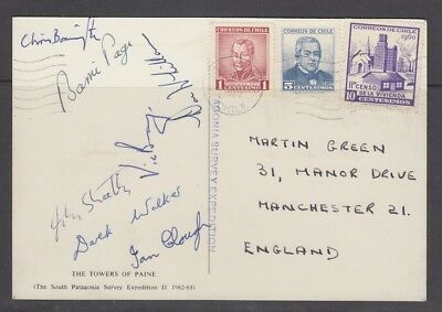 Mountaineering SIGNED - Climbing Expedition Postcard - British Patagonia 1962