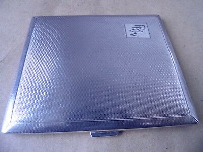 Lovely Art Deco Sterling Silver Engine Turned Cigarette Case 1938