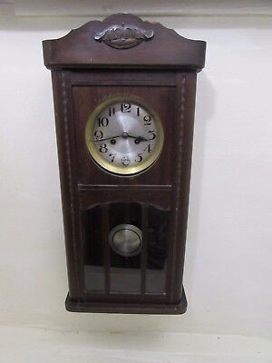 Antique German Chiming Wall Clock Fully Working Movement