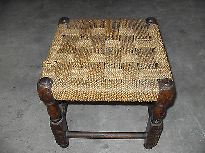 Vintage Wicker Stool - Very Good Condition