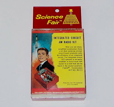 UNBUILT - Radio Shack Science Fair P-Box VINTAGE transistor AM receiver kit set