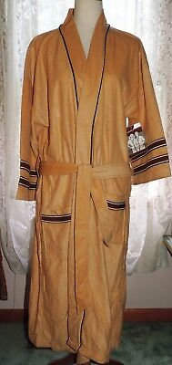 Vintage Men's Robe New In Original Packaging Tan Brown GROOVY 60s Style One Size