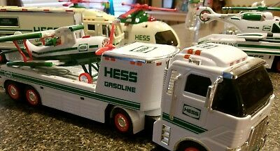 HESS LOT Trucks Helicopters Air Plane Cars Oil/Gasoline advertising (8 vehicles)
