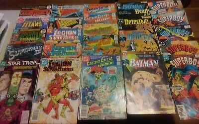 24 Bronze Age Dc Comic Lot Batman, Legion Of Superheroes , Superboy And Others
