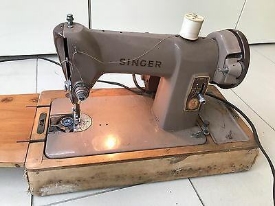 Vintage Singer Sewing Machine  Electric Motor with Case working BKZ 12-12