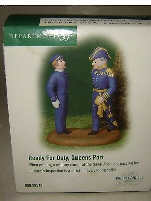 """Dept 56  Dickens Village  """"ready For Duty, Queens Port"""" #58579 * Free Shipping"""