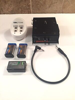 JuicedLink CX211  Audio Mixer and 9 Volt Battery Charger with 3 9 Volt Batteries