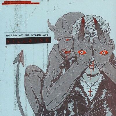 QUEENS OF THE STONE AGE VILLAINS LIMITED INDIE ARTWORK 2x LP ETCHED VINYL SEALED