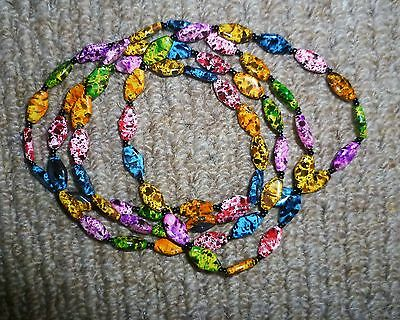 Multi coloured painted stone beads
