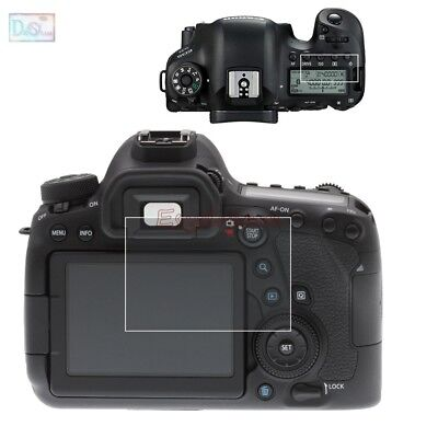 Self-adhesive Glass Screen Protector & Info LCD Film Cover for Canon 6D Mark II