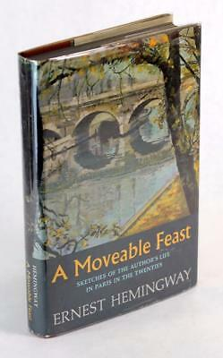 First Edition Ernest Hemingway A Moveable Feast 20s Paris Hardcover w/Dustjacket