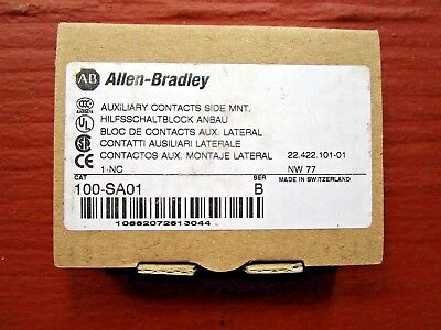 Allen-Bradley 100-SA01 Auxiliary Contacts - NEW