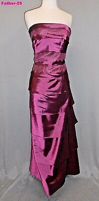Jade Wine 12 Formal Wedding Mother Of The Bride Dress Evening Gown