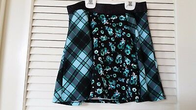 Justice Girl's Teal and Black Skirt - Size 14 ~ Used