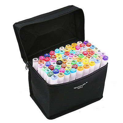 TOUCHNEW 40 Colors Artist Dual Head Sketch Markers Set For Manga Marker Sch Y6A8