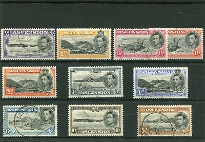 Ascension.10 --G6 1938 Fine Used Stamps On Stockcard