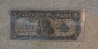 1899 - Indian Cheif - $5 Note - Series Of 1899 - Rough Condition - Five Dollar $