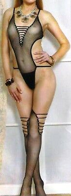 Moda Sexy Completo 2 Pezzi Body Stockings Sexy Hot E Calze Come Foto