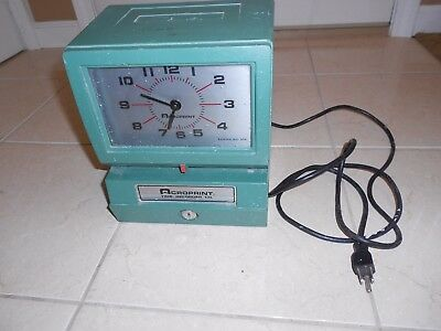 Acroprint 150Nr4 Electric Time Clock Time Recorder