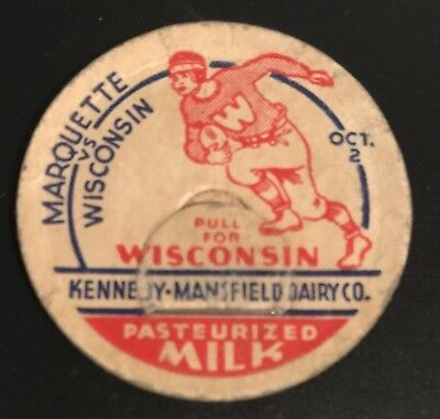 Marquette vs. Wisconsin Football Oct. 2 Kennedy Mansfield Dairy Milk Cap