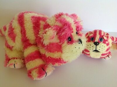 Bagpuss Plush Cats Golden Bear Products Large Yawning And Small 1999