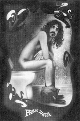FRANK ZAPPA ~ CRAPPA SKETCH 24x36 MUSIC POSTER Toilet NEW/ROLLED!