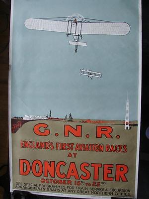 B009 Vintage Poster of 'Englands First Aviation Races at Doncaster' GNR Poster 1