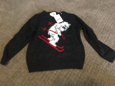 Crewcuts Jcrew Toddler Boys New Sweater 3T Skiing Abominable Snowman