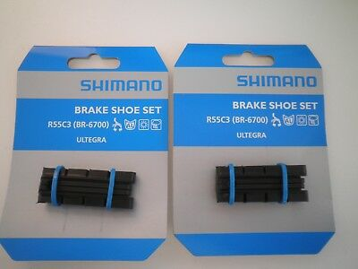 2 pairs of  Shimano Road Brake Shoes Dura-Ace Ultegra 105 Pads Inserts R55C3