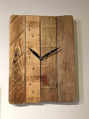 Handmade Clock Unique Funky Made From Recycled Pallet Wood