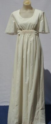 VINTAGE 1970S FORMAL DRESS Wing Sleeves size 10 EMPIRE Slim line Party DEBUT
