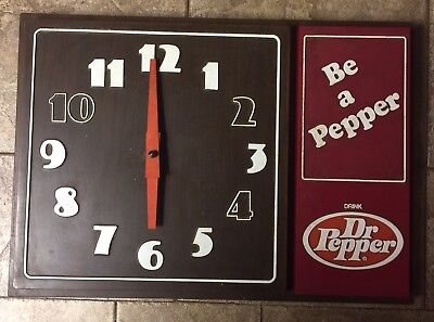 Dr Pepper Electric Wall Clock