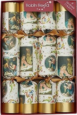 Robin Reed H7 Christmas Holiday 8pc Party Crackers – Nativity 61702