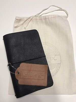 Foxy Fix #4 Personal Black Leather Traveler's Notebook