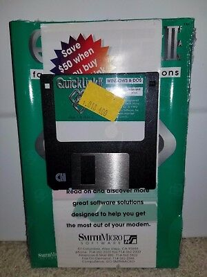 QuickLink II  - Fax & Telecommunications (WINDOWS & DOS) Manual and Floppy Disk