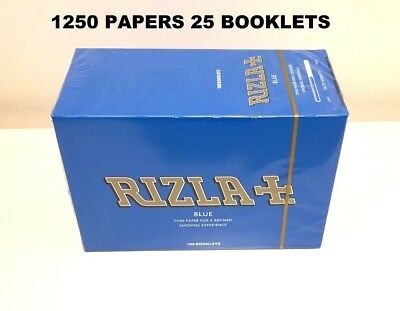 1250 Rizla Blue Smoking  Rolling Papers Made In Belgium Original 25 Booklets