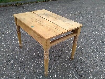 Small pine refectory table desk