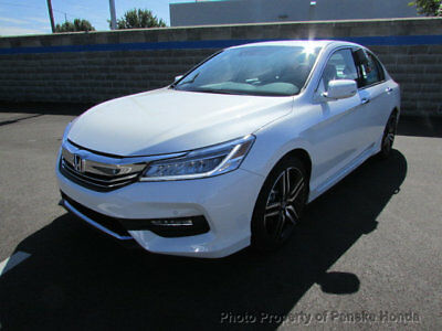 2017 Honda Accord Touring Automatic Touring Automatic New 4 dr Sedan Automatic Gasoline 3.5L V6 Cyl White Orchid Pea