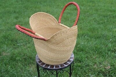 New Medium Bolga Handmade Straw Baskets From Ghana Authentic Ashanti